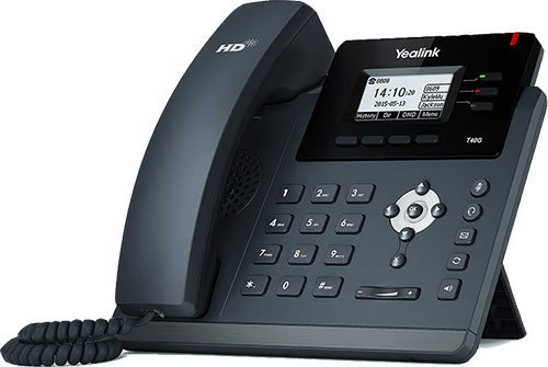 Yealink T40G 3-Line with GbE NICs IP SIP Phone from BaronTEL